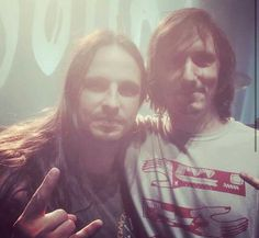 Christian Andreu (the dragon) and Mario Duplantier (Gojira). they're fantastic!