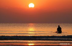 Sunset fishing or sunrise fishing? - People's Daily Online