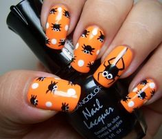 70 Best Halloween Nail Art Designs And Ideas You Will Like These trendy Nails ideas would gain you amazing compliments. Check out our gallery for more ideas these are trendy this year. Love Nails, How To Do Nails, Pretty Nails, Style Nails, Cute Halloween Nails, Halloween Nail Designs, Halloween Inspo, Halloween Spider, Easy Halloween