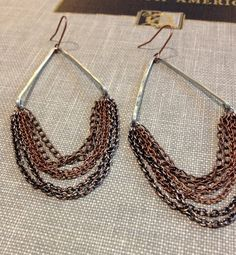 hand forged silver and copper chain chandelier by shoporiginate, $24.00