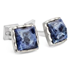 Faceted Square Sodalite Cufflinks . . . . . der Blog für den Gentleman - www.thegentlemanclub.de/blog