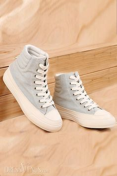 US$46.99  New Fashion Luxury Pure Color Preppy Canvas Shoes. #Sneakers #Pure #Color #Canvas