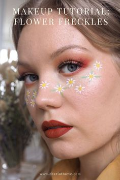 Check out my easy quide to cute flower makeup! #makeup #flowerfreckles #makeuptutorial #beautyblog