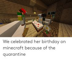 party on minecraft for your birthday quarantine