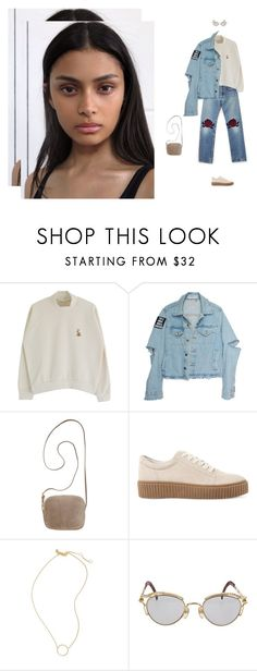 """""""piece of mind"""" by tina-gadze ❤ liked on Polyvore featuring Bliss and Mischief, The Row, Steve Madden, Madewell and Jean-Paul Gaultier"""