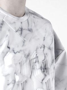 ep-r:  Juun.J S/S 2014 Neoprene Marbled Sweater