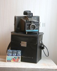 Vintage Polaroid, Polaroid Colorpack II,  Land Camera, Polaroid Camera, Vintage Camera, Home Decor, Set Design, Prop, Flashcubes, Black him