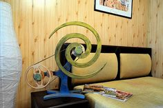 Wooden Kinetic Sculpture Wall ART Kinetic plywood ART - VORTEX (Vintage limited edition ) - only one piece Plywood Art, Kinetic Art, Baltic Birch Plywood, Wall Sculptures, Cosmic, Art Pieces, Places, Unique, Vintage