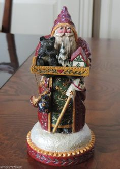 RARE PAM SCHIFFERL SANTA WITH TOYS EXCELLENT CONDITION
