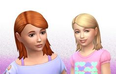 The Sims 4 | My Stuff: EP02 Get Together Medium Tucked Hairstyle Converted for Girls | hairs for female child
