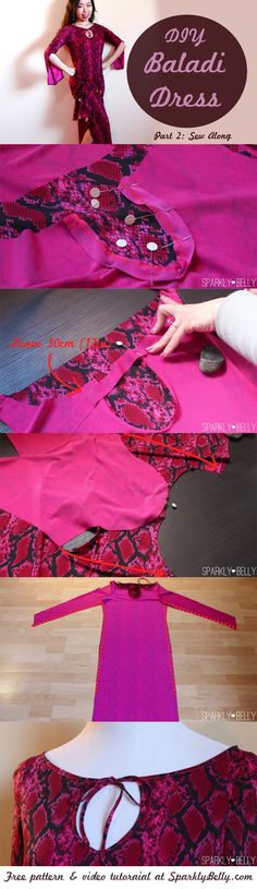 How to make your own baladi dress with free pattern :)