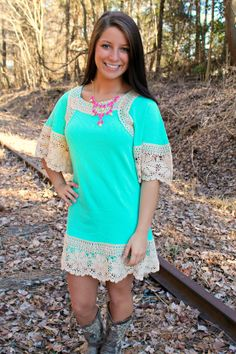 Mint Blossom Dress $99.99 #southernfriedchics