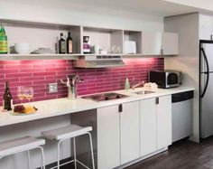 Kitchen with pop of color!