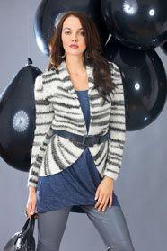 dámský ručně pletený kabátek z příze Meribel Effektcolor 5b31111786