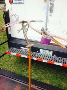 Metal Yard Art, Metal Art, Welded Art, Potato Ricer, Bottle Trees, Garden Junk, Metal Birds, Junk Art, Metal Crafts