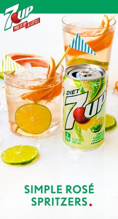 Grab your punch bowl and whip up a drink recipe ready for a crowd! These Simple Rosé Spritzers boast your favorite blush wine, Diet 7UP®, and a garnish of lime and grapefruit. At your next BBQ, outdoor party, or summer celebration, this bubbly, citrus cocktail is sure to be a hit. Make a Target run to grab the ingredients you need to make this easy beverage for your friends—one sip and they're  sure to thank you!