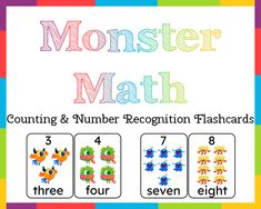 Numbers Kindergarten, Preschool Math, Learning Activities, Flashcards For Toddlers, Addition Flashcards, Learn To Count, Printable Numbers, Help Teaching, Nanning