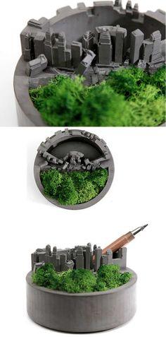 Handmade Concrete Architectural Round Succulent / Planter / Plant Pot / Flower Pot