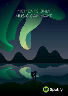 Spotify #NowFeeling by Tom Anders Watkins, via Behance