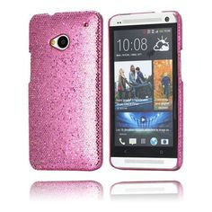Glitter (Pink) HTC One Cover