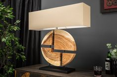 Stolová lampa ARTWORK CIRCLE Designer, Table Lamp, Lighting, Artwork, Puzzle, Home Decor, Products, Environment, Wood Rounds