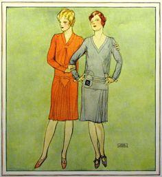 John La Gatta fashion illustration, 1928