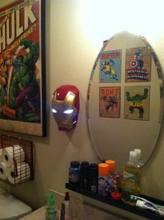 Marvel Comics Theme Bathroom Superhero Room Bathroom