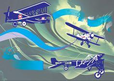 Trabalho da Faculdade Tópicos Especiais em Artes e Design - Banner História da Aviação - 2° Semestre