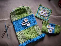 juego sencillo de cocina a crochet
