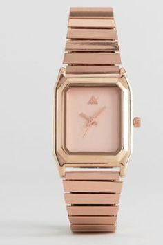 ASOS Rectangle Expander Strap Watch - Copper https://modasto.com/kadin-aksesuar-taki-saat/ct34 #saat