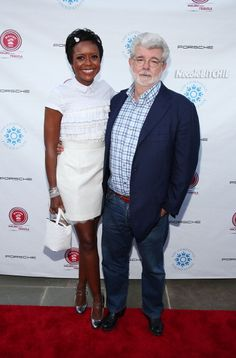 George Lucas and his fiancee Mellody Hobson