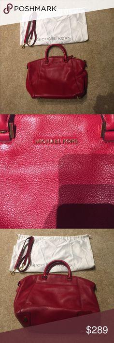 Spotted while shopping on Poshmark: Michael Kors pebbled Leather satchel! #poshmark #fashion #shopping #style #Michael Kors #Handbags