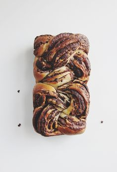 Braided Chocolate Bread. With link to recipe at bread in five