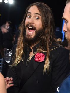 Pin for Later: Jared Leto Was Downright Thrilled to Be at the SAG Awards