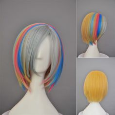 Find More Cosplay Wigs Information about Sexy Women't Fashion Rainbow Dash Short Straight Anime Cosplay Wig,High Quality cosplay wig,China cosplay uniform Suppliers, Cheap cosplay tail from GreengoLand on Aliexpress.com