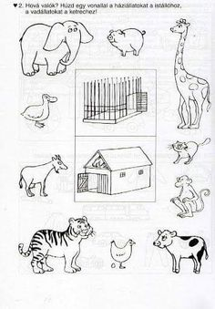 Számolj te is - Kollár Orsi - Picasa Web Albums Animal Crafts For Kids, Animals For Kids, Farm Animals, Animals And Pets, Kids Learning Activities, Teaching Kids, Animal Coloring Pages, Coloring Books, Animal Worksheets