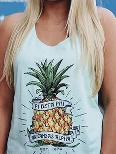 Pi Beta Phi pineapple tank #piphi #pibetaphi (Arkansas Alpha)