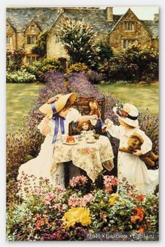 Sandra Kuck - Afternoon Tea - Complete colection of art, limited editions, prints, posters and custom framing on sale now at Prints. Tee Kunst, Victorian Tea Party, Art Magique, Girls Tea Party, Tea Parties, Vintage Tea, High Tea, Afternoon Tea, Tea Time