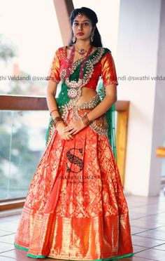 12 Trending Half Sarees for Special Occasions - Candy Crow - 12 Trending Half Sarees for Special Occasions – Candy Crow Source by subhavarun - Lehenga Saree Design, Half Saree Lehenga, Lehnga Dress, Saree Look, Lehenga Designs, Lehanga Saree, Lehenga Style, Lehenga Blouse, Silk Lehenga