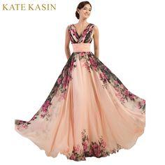 3 Diseños Vestidos de Noche Stock Un Hombro Patrón de Flor de la Gasa de La Impresión Floral Vestido de Noche Vestido de Fiesta Largo vestidos de Baile 2017