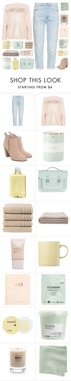 """PALE PINK"" by paradiselemonade ❤ liked on Polyvore featuring M.i.h Jeans, STELLA McCARTNEY, Michael Kors, Kate Spade, H2O+, Bohemia, Christy, Pieces, Rosenthal and kikki.K"