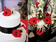 red black white wedding cake provo utah wedding florist calie rose