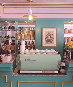 this there: café congreso. pastel interior of café congreso in the Philippines. / sfgirlbybaypastel interior of café congreso in the Philippines. Café Retro, Retro Cafe, Vintage Cafe, Cafe Interior Vintage, Vintage Coffee Shops, Classic Interior, Design Retro, Vintage Design, Cafe Design