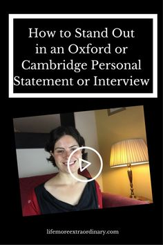 If you're applying to Oxbridge and wondering how you're going to stand out from the crowd in your personal statement and interview then watch this video. I give you my number one tip to make you memorable to admissions tutors at Oxford University and Cambridge University. #oxbridge #personalstatement #ucas