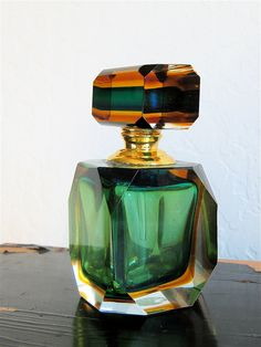 Vintage Perfume Bottle Murano Glass Italy.
