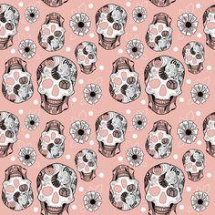 Pink Skulls Art Print