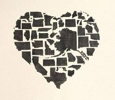 cool 50 states heart