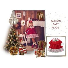 Girl lace paneled red dress. Nora Norita Nora