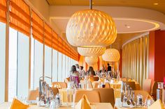 Our swing pendants shine in a restaurant on the #aida! We are happy to see our wooden pendant lamps travelling the world.  Thank you Ferien-welten.de for the picture!
