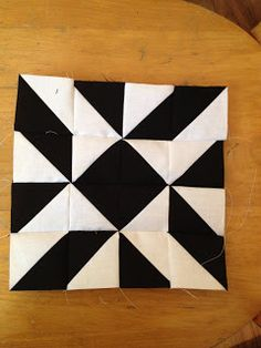 Modern Half-Square Triangle Quilt-a-Long Block 18